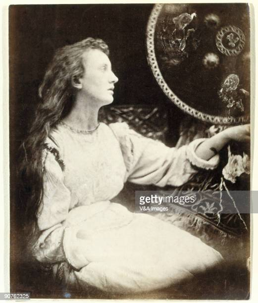 'UNITED KINGDOM JANUARY 28 Reduced albumen print Photograph by Julia Margaret Cameron of a scene from Alfred Lord Tennyson's 'Idylls of the King' The...