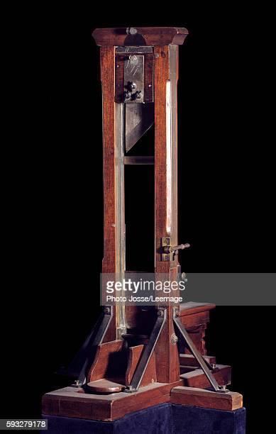 Reduced model of a guillotine Musee de la Ville de Paris Musee Carnavalet Paris France