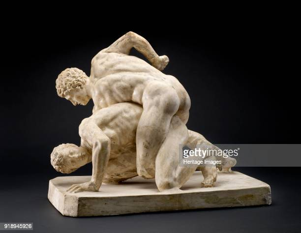Reduced version of Uffizi Wrestler Group from Florence circa 2nd4th century Dimensions height 42 cm