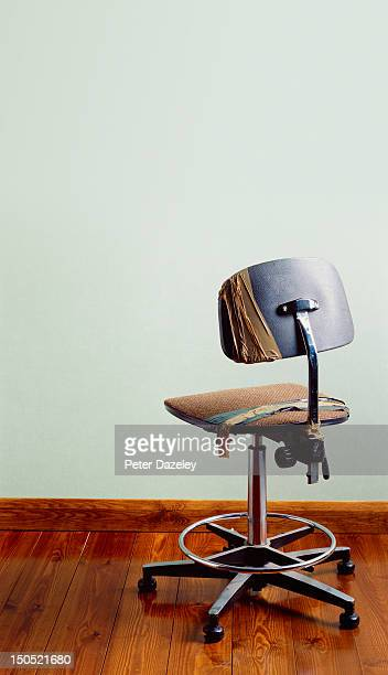 Redundant office chair with copy space