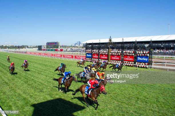 Redzel ridden by Kerrin McEvoy wins the Darley Classic during 2017 Stakes Day at Flemington Racecourse on November 11 2017 in Melbourne Australia