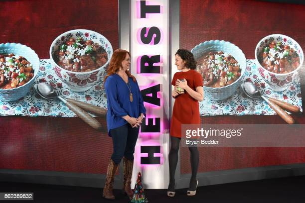 Ree Drummond and Editor in Chief of Food Network Magazine Maile Carpenter speak onstage at Hearst Magazines' Unbound Access MagFront at Hearst Tower...