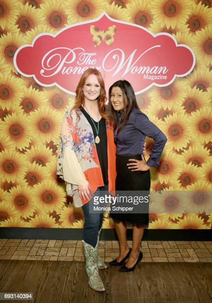 Ree Drummond and guest attends The Pioneer Woman Magazine Celebration with Ree Drummond at The Mason Jar on June 6 2017 in New York City