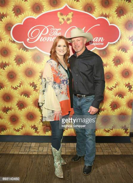 Ree Drummond and Ladd Drummond pose for a photo during The Pioneer Woman Magazine Celebration with Ree Drummond at The Mason Jar on June 6, 2017 in...