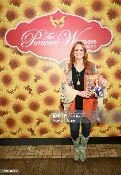 Ree Drummond poses with The Pioneer Woman Magazine during The Pioneer Woman Magazine Celebration with Ree Drummond at The Mason Jar on June 6, 2017...
