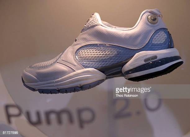 Reebok holds unveiling of the Pump 2.0 sneaker November 10, 2004 in New York City. According to Reebok, the shoe automatically custom fits to the...
