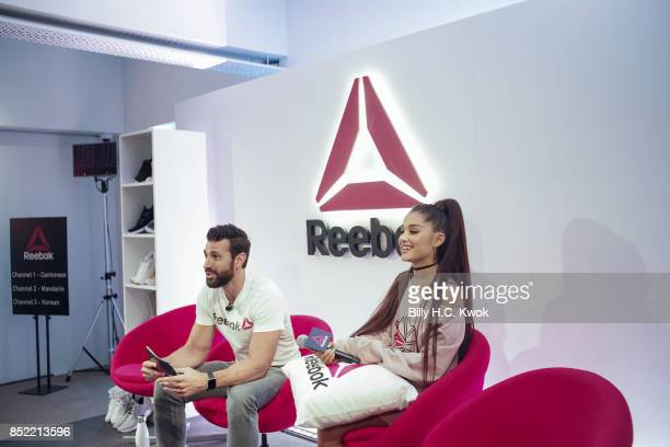 Reebok host Chad Wittman and Ariana Grande attend An Inspiring 'Day in the Life' of Ariana Grande to celebrate new partnership with Reebok on...