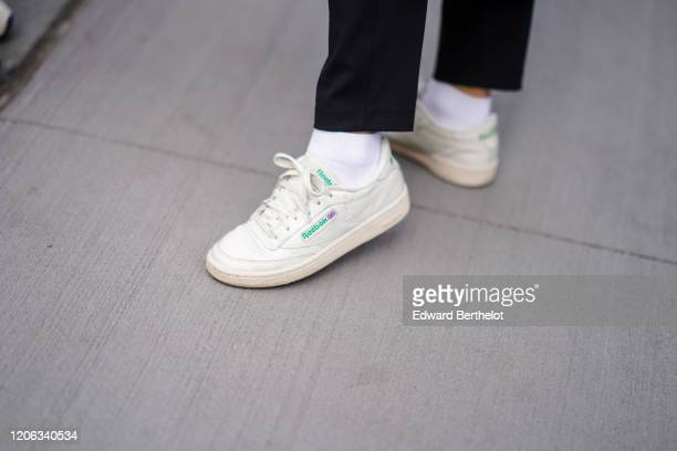 Reebok sneakers are seen during New York Fashion Week Fall Winter 2020 on February 12 2020 in New York City