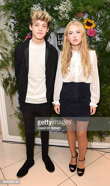 Reece Bibby and Anais Gallagher attend the Lady Garden x Topshop campaign launch featuring a sweatshirt collection by designer Simeon Farrar in aid...