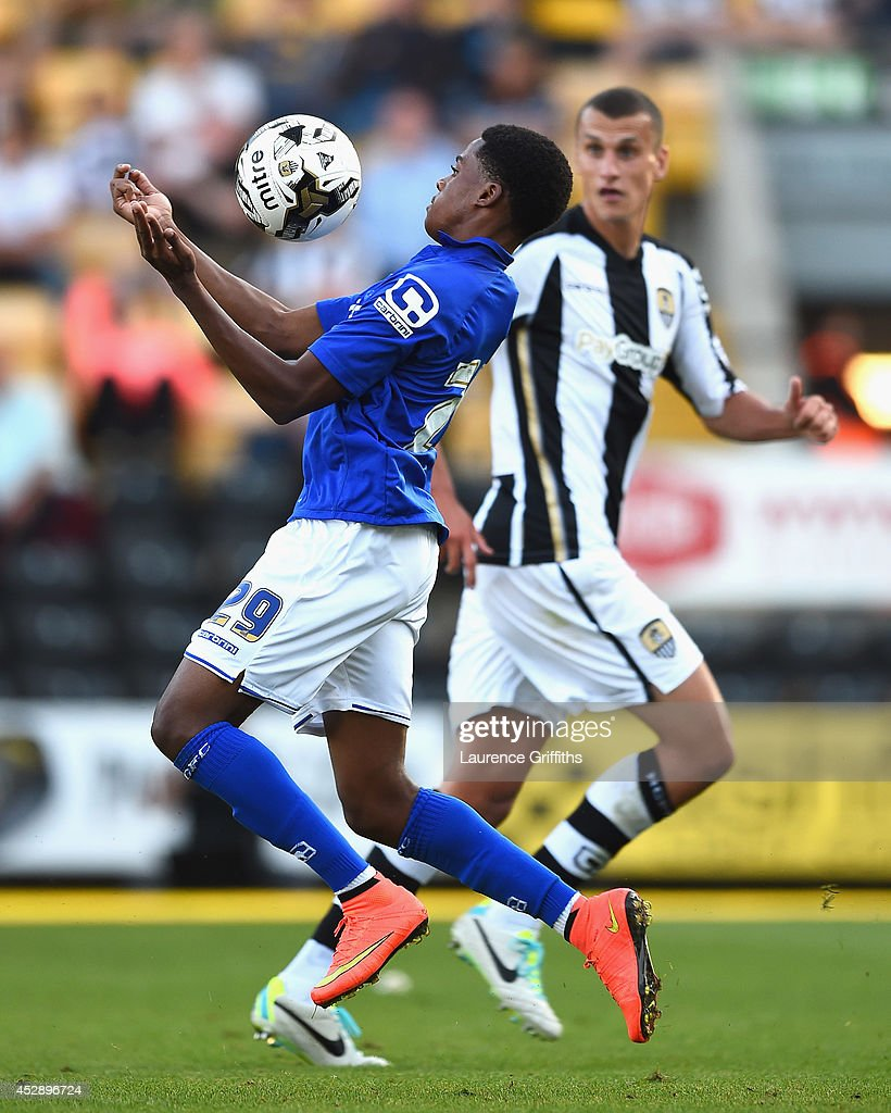 Reece Brown of birmingham City in action during the Pre Season Friendly match between Notts County and Birmingham City at Meadow Lane on July 29, 2014 in Nottingham, England.