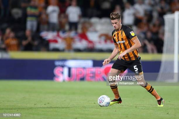 Reece Burke of Hull City during the Sky Bet Championship match between Hull City and Aston Villa at KCOM Stadium on August 6 2018 in Hull England