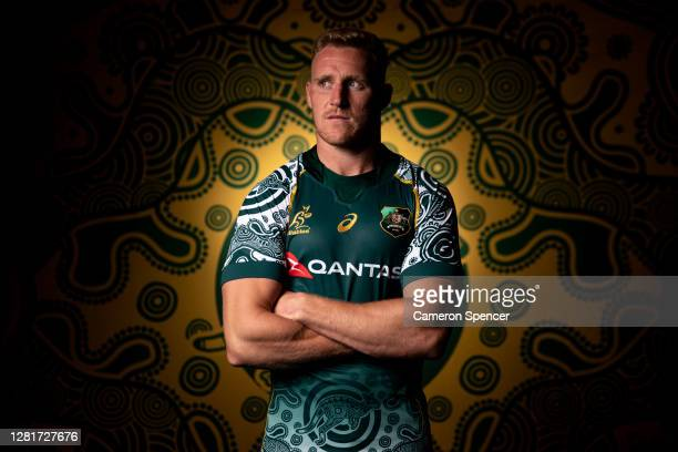 Reece Hodge of the Wallabies poses during the Australian Wallabies 2020 First Nations Jersey portrait session on October 22 2020 in the Hunter Valley...