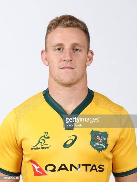 Reece Hodge poses during the Australian Wallabies headshot session on May 7 2018 in Gold Coast Australia