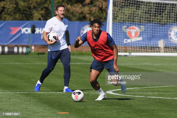 Reece James of Chelsea during a training session at Chelsea Training Ground on September 20 2019 in Cobham England