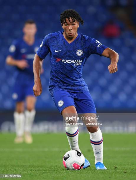 Reece James of Chelsea during the Chelsea FC v Brighton and Hove Albion Premier League 2 match at Stamford Bridge on September 13 2019 in London...