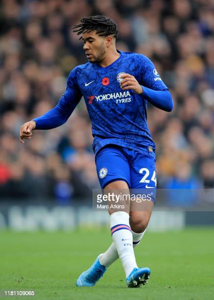 Reece James of Chelsea during the Premier League match between Chelsea FC and Crystal Palace at Stamford Bridge on November 9 2019 in London United...