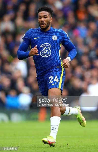 Reece James of Chelsea FC during the Premier League match between Chelsea and Norwich City at Stamford Bridge on October 23, 2021 in London, England.
