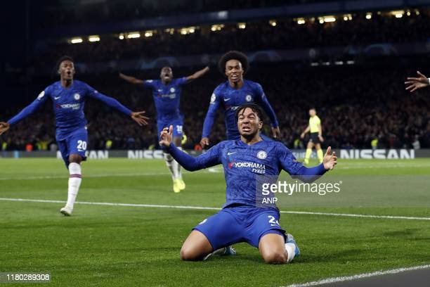 Reece James of Chelsea FC during the UEFA Champions League group H match between Chelsea FC and Ajax Amsterdam at Stamford Bridge on November 05 2019...