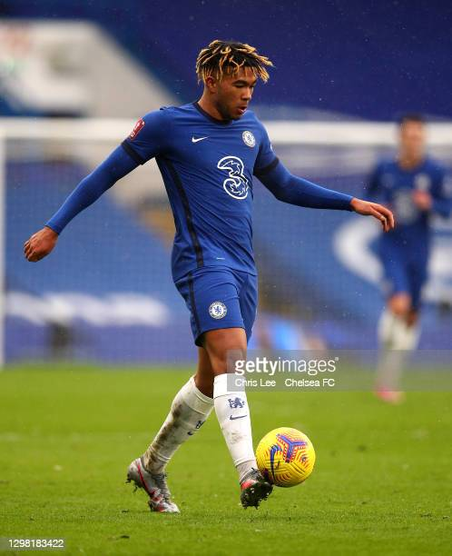 Reece James of Chelsea in action during The Emirates FA Cup Fourth Round match between Chelsea and Luton Town at Stamford Bridge on January 24, 2021...