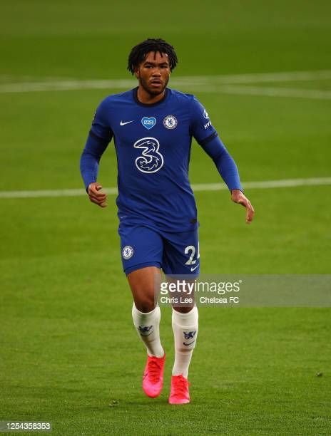 Reece James of Chelsea in action during the Premier League match between Chelsea FC and Watford FC at Stamford Bridge on July 04 2020 in London...