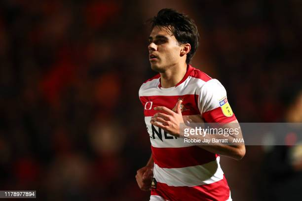 Reece James of Doncaster Rovers during the Leasingcom Trophy match fixture between Doncaster Rovers and Manchester United U21's at Keepmoat Stadium...