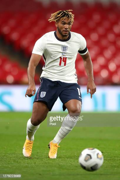 Reece James of England in action the international friendly match between England and Wales at Wembley Stadium on October 08, 2020 in London,...