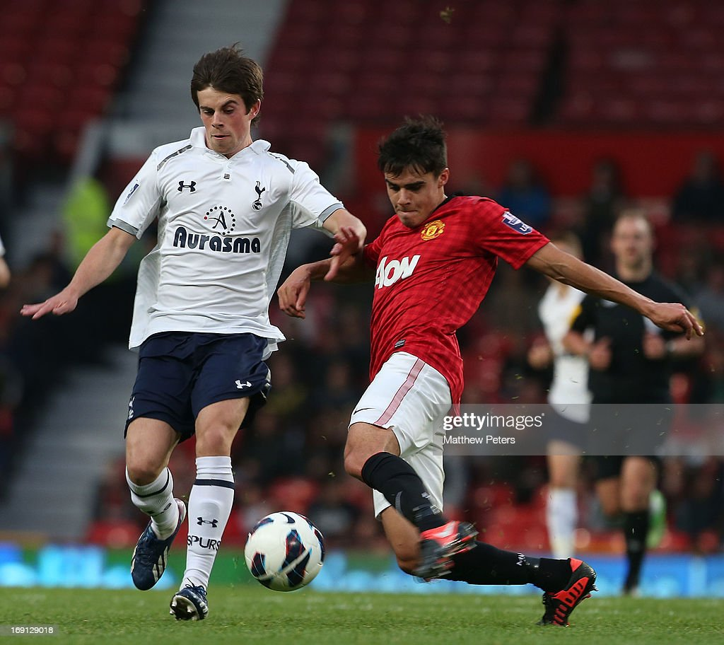 Manchester United U21 v Tottenham Hotspur U21 - Barclays U21s Elite Group Final : News Photo