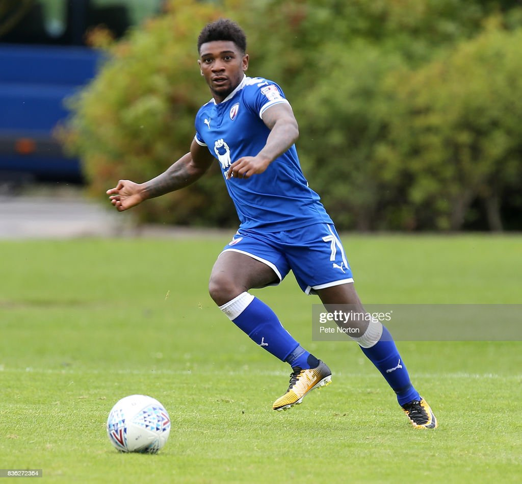 Reece Mitchell of Chesterfield in action during the Reserve Match between Northampton Town and Chesterfield at Moulton College on August 21, 2017 in Northampton, England.