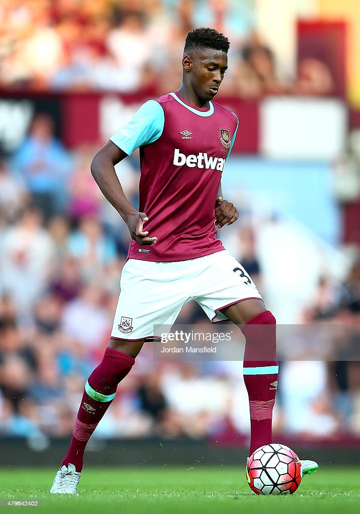 Reece Oxford of West Ham in action during the UEFA Europa League match between West Ham United and FC Lusitans at Boleyn Ground on July 2, 2015 in London, England.