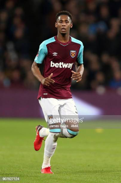 Reece Oxford of West Ham United during the Emirates FA Cup Third Round Repaly match between West Ham United and Shrewsbury Town at London Stadium on...