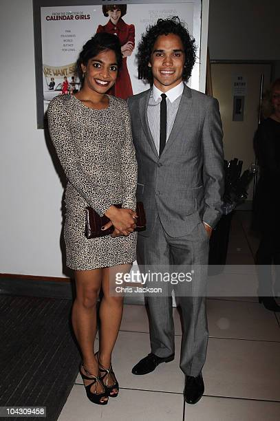 Reece Ritchie and Amara Karan attend the World Premiere of 'Made In Dagenham' in association with Quintessentially at the Odeon Leicester Square on...