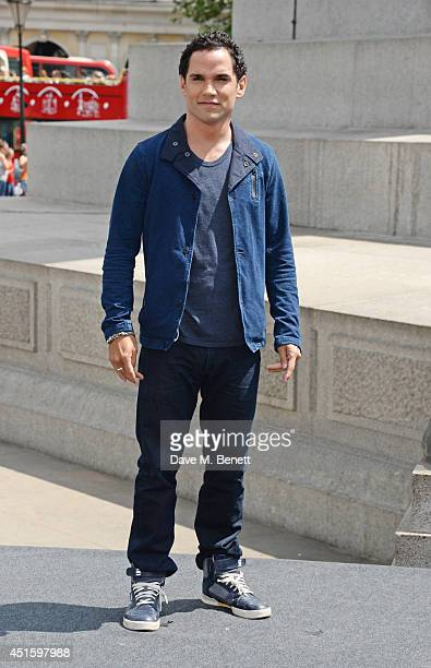 """Reece Ritchie attends a photocall for """"Hercules"""" at Nelson's Column in Trafalgar Square on July 2, 2014 in London, England."""