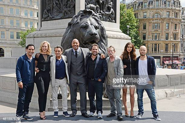 Reece Ritchie Ingrid Bolso Berdal Ian McShane Dwayne 'The Rock' Johnson Brett Ratner John Hurt Irina Shayk and Aksel Hennie attend a photocall for...