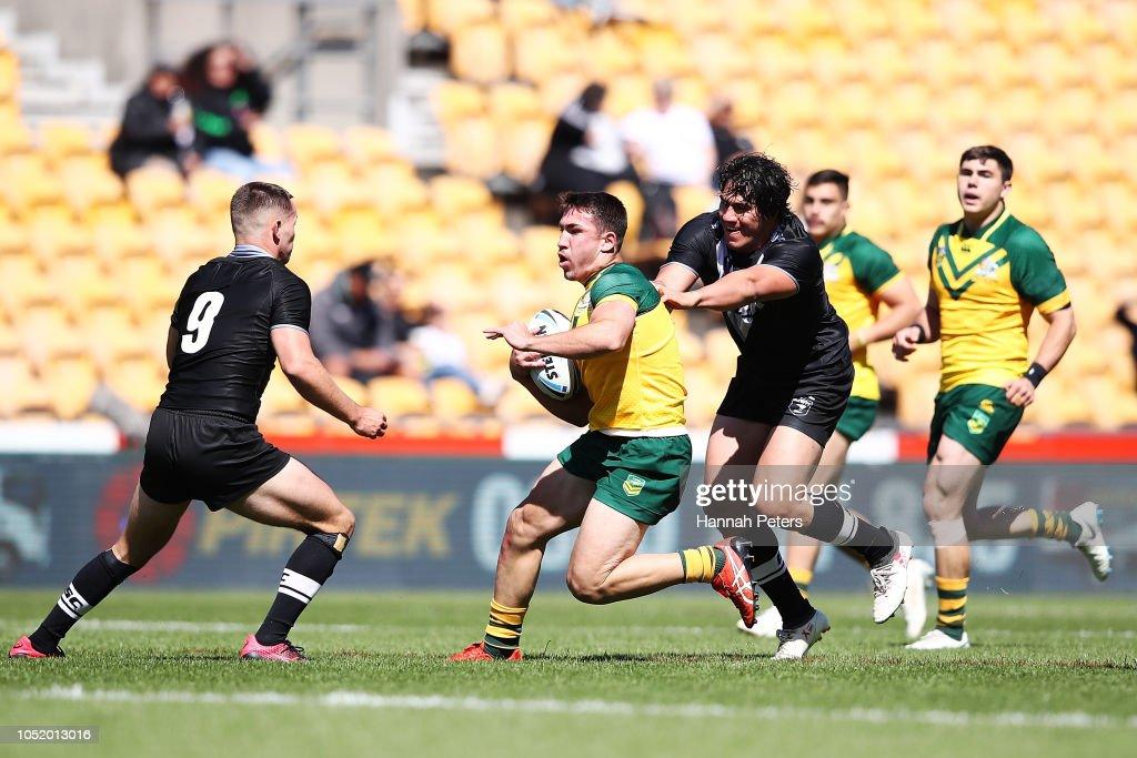 New Zealand Juniors v Australian Juniors : News Photo