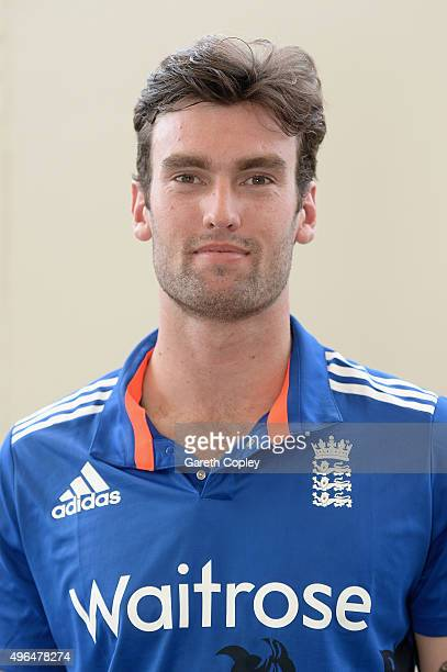 Reece Topley of England poses for a portrait at Zayed Cricket Stadium on November 10 2015 in Abu Dhabi United Arab Emirates