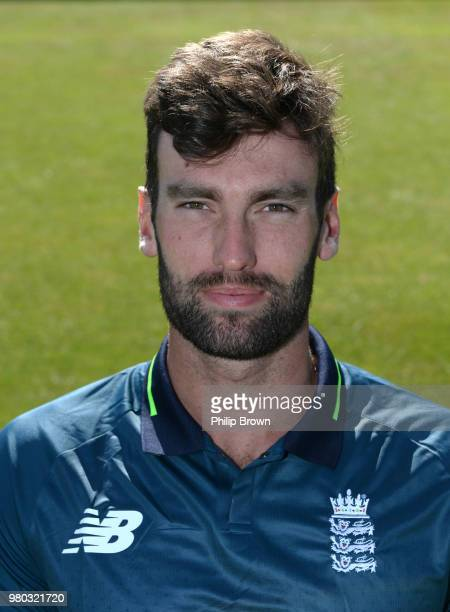 Reece Topley of the England Lions poses for a photograph before a training session at the 3aaa County Ground on June 21, 2018 in Derby, England.
