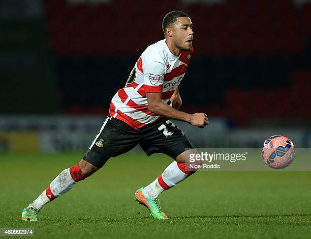 Reece Wabara of Doncaster Rovers in action during the FA Cup Third Round match between Doncaster Rovers and Bristol City at Keepmoat Stadium on...
