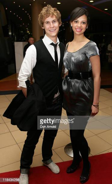 Reece Wakefield and Sophia Nader attend the Sydney premiere of Miss Saigon at the Lyric Theatre on September 22, 2007 in Sydney, Australia.