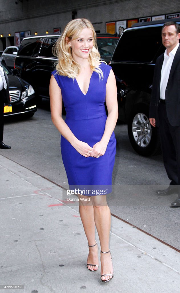 Reece Witherspoon visits 'The Late Show with David Letterman' at the Ed Sullivan Theater on May 5, 2015 in New York City.