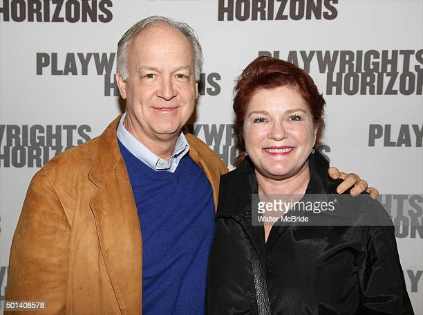 Reed Birney and Kate Mulgrew attend the Opening Night of the Playwrights Horizons New York premiere production of 'Marjorie Prime' at the Playwrights...