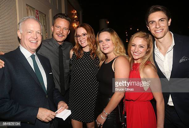 Reed Birney Will Chase Ingrid Michaelson Lauren Pritchard Christy Altomare and Derek Klena pose at The Opening Night of the Revival of 'Cats' on...