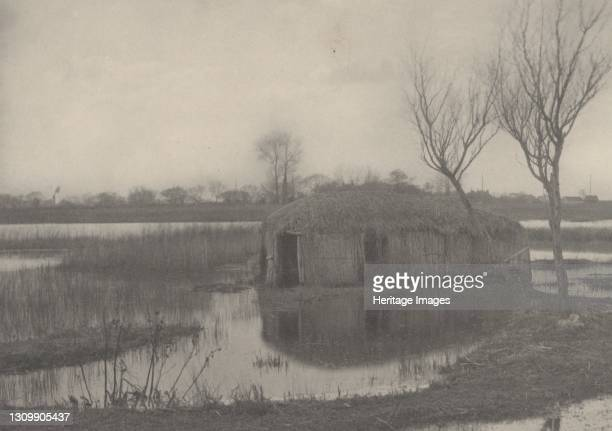 Reed Boat-House, 1886. Artist Dr Peter Henry Emerson, Thomas Frederick Goodall. .
