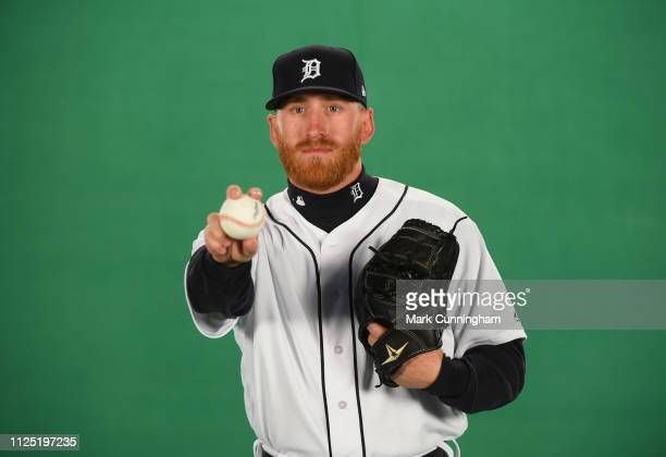 Reed Garrett of the Detroit Tigers poses for a photo during Spring Training workouts at the TigerTown Complex on February 15 2019 in Lakeland Florida