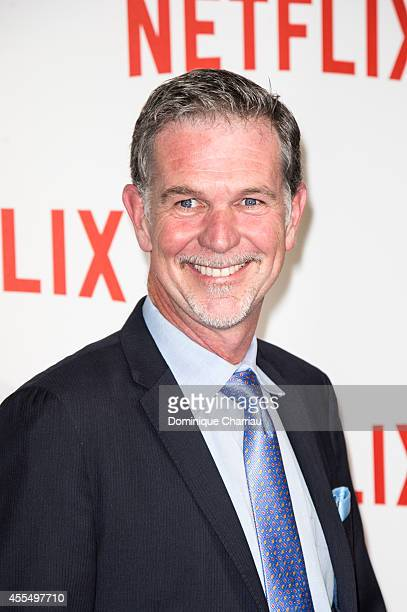 Reed Hasting attends the 'Netflix' Launch Party At Le Faust In Paris on September 15 2014 in Paris France