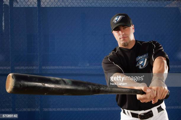 Reed Johnson of the Blue Jays poses for a portrait during the Toronto Blue Jays Photo Day at the Bobby Mattick Training Center on February 25 2006 in...