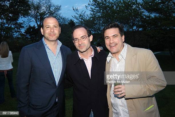 Reed Krakoff Rodney Prauge and Jeffrey Slonim attend Reed and Delphine Krakoff host cocktails to kick off the Parrish Art Museum Midsummer Gala...