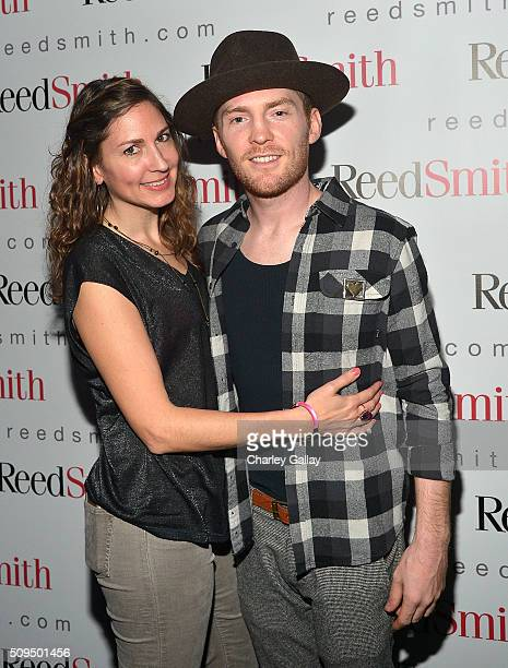 Reed Smith's Tiffany Almy and Trevor Wesley attend the Reed Smith GRAMMY Party at The Sayers Club on February 10 2016 in Hollywood California