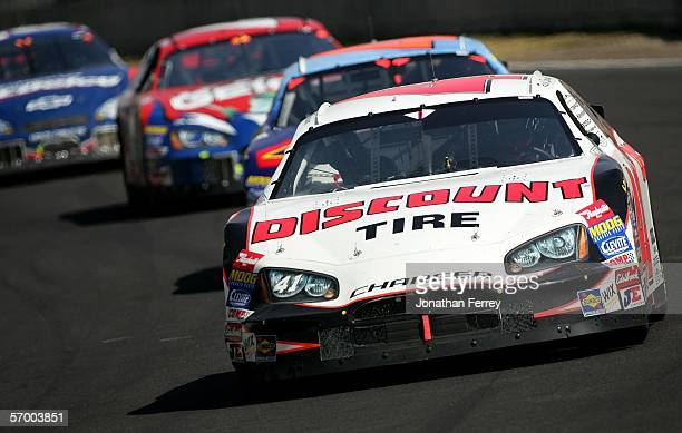 Reed Sorensen in his Discount Tires Ganassi Racing Dodge races with a pack of cars during the NASCAR Busch Series Telcel-Motorola 200 on March 5,...