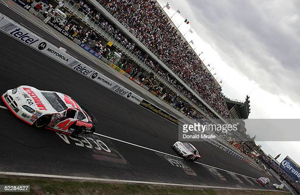 Reed Sorenson drives his Discount Tire Co. Dodge Intrepid during the Telcel Mexico 200 Nascar Busch Series Race at the Autrodromo Hermanos Rodriguez...