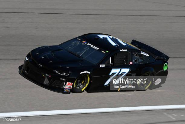 Reed Sorenson Spire Motorsports Chevrolet Camaro ZL1 1LE drives through turn four during practice for the NASCAR Cup Series Pennzoil 400 presented by...